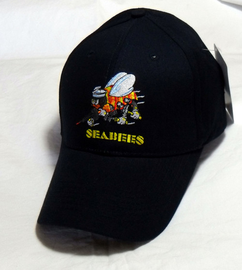 U.S. Navy SeaBees We Build We Fight- Military Hat Baseball Cap Hat