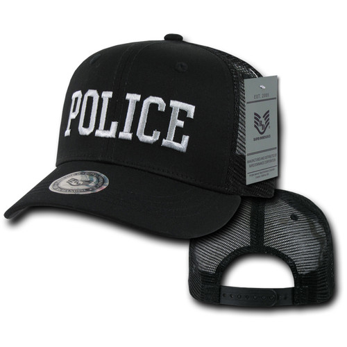 Police Department Law Enforcement Black Mesh Baseball Hat Baseball Cap