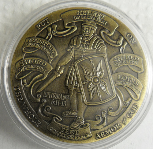 US ARMY United States Army Armor Of God Challenge Coin In Airtite