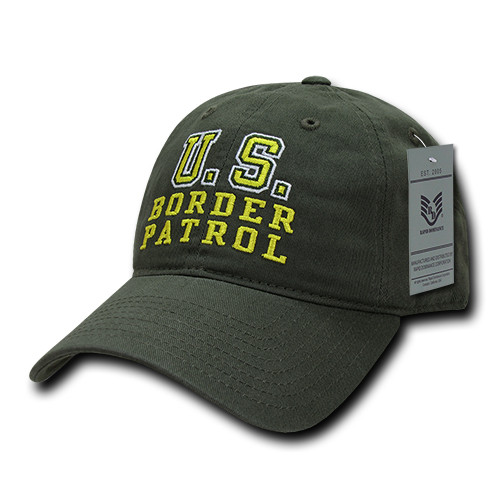 United States Border Patrol Olive Relaxed Fit Baseball Cap Hat
