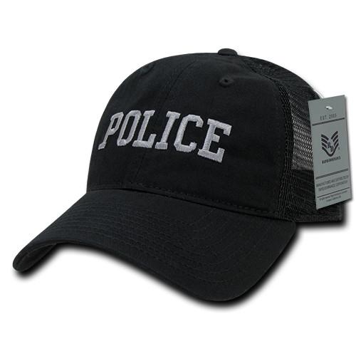 Police Law Enforcement Mesh Relaxed Fit Hat Baseball Cap Trucker Hat
