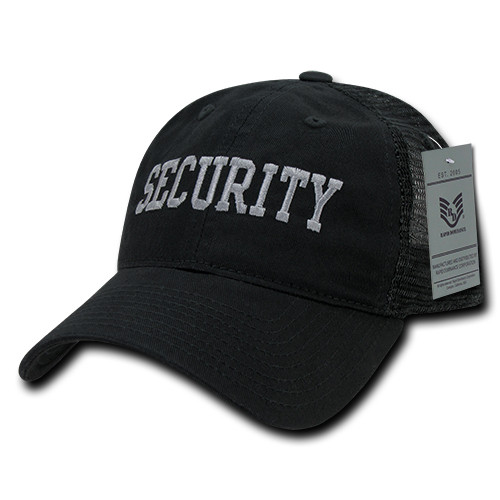 Security Law Enforcement Mesh Relaxed Fit Hat Baseball Cap Trucker Hat
