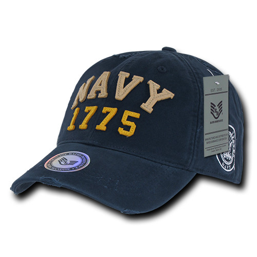 96121eafa9a US NAVY UNITED STATES NAVY OFFICIALLY LICENSED Vintage Look Military Hat  Baseball Cap