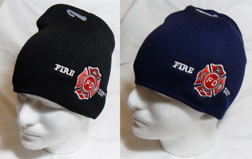 Fire Department First Responder Watch Cap Beanie Winter Ski Hat Toboggan