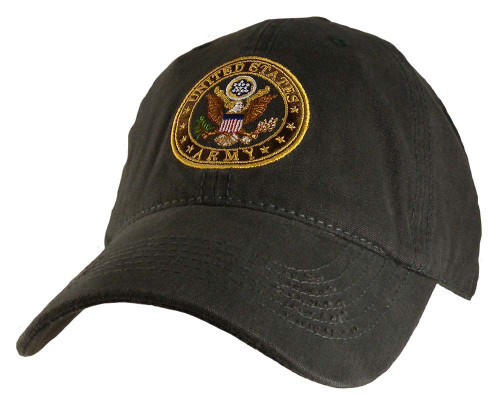US ARMY Relaxed Fit CHARCOAL OFFICIALLY LICENSED Military Hat baseball cap