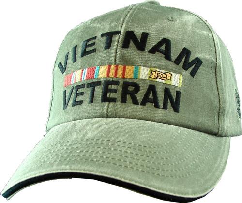Vietnam Veteran With Ribbons ODG Military Hat Baseball Cap
