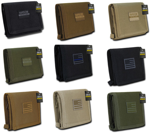 Tri-Fold Tactical Wallet 18 compartments with Life Time Warranty