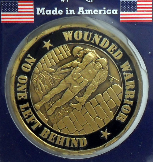 Wounded Warrior Proudly Served No One Left Behind Made in USA Challenge Coin