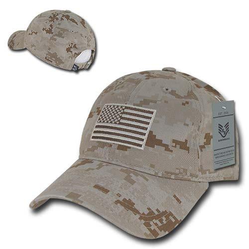 Desert US American Flag Patch United States America Polo Tonal Baseball Hat  Cap 0c248081054