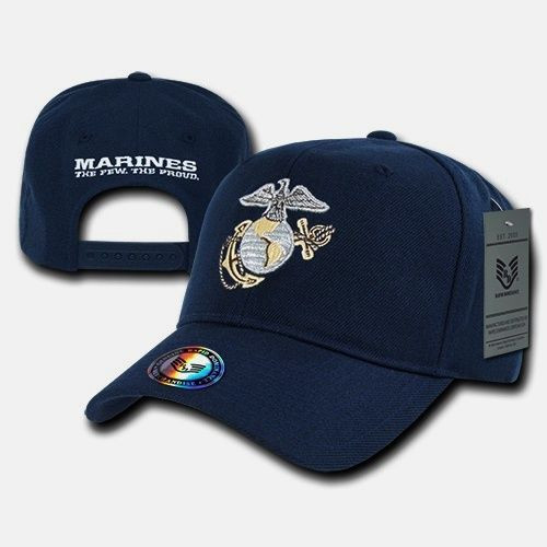 United States US Marines Corps USMC OFFICIALLY LICENSED Navy Baseball Cap  Hat 8206dafb4ca