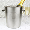 Engraved Personalised Stainless Steel Champagne Bucket