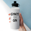 Personalised White Metal Reusable Water Bottle