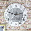 Personalised Shabby Chic Kitchen Clock