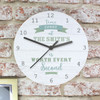 Time Spent Shabby Chic Large Wooden Clock