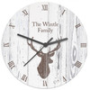 Personalised Stags Head Wooden Clock