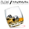 Rocking Whiskey Glass With Whiskey Stones