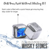 Rocking Whiskey Glass & Stainless Steel whisky stones Ice Cube