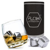 Rocking Whiskey Glass & Stainless Steel Ice Cubes Set