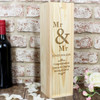 Wooden Personalised Mr & Mr Wine Box