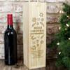 Engraved Christmas Wooden Wine Presentation Box