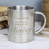 Personalised Metal Mug For A Climber