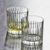 Set Of Two Deco Crystal Whisky Glasses