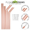 Steel Copper Reusable Straws