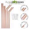 Steel Copper Reusable Straws