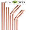 Reusable Rose Gold Copper Drinking Straws by Flow Barware