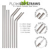 Deluxe Metal Straws With Rounded Ends