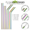 Metal Steel Multi Coloured Reusable Straws
