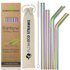 Reusable Rainbow Drinking Straws by Flow Barware