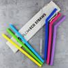 Multi Coloured Silicone Straws by Flow Barware
