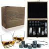 FLOW Rocking Whisky Glasses & Granite whisky Stones