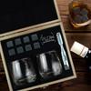 FLOW Barware Rocking Whisky Glasses & Stones Box Set