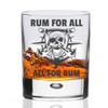 Pirate Rum Glass - All For Rum and Rum For All