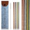 Deluxe Embossed Metal Straws Set by Flow Barware