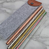 Embossed Copper, Gold, Rainbow Flow Eco Straws