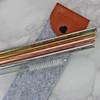 Embossed Copper, Gold, Rainbow Flow Eco Straws