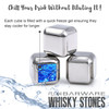 FLOW Metal Whisky Stones, Reusable Ice Cubes