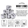 Silver Metal Stainless Steel Drinks Stones