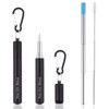Matt Black Telescopic Stainless Steel Straw by FLOW Barware