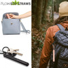 collapsible Straw and case copper