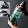 Glass Cocktail Shakers with Recipes