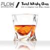 FLOW Twist Whiskey Glasses & Whiskey Stones Box Set