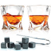 Twist Whiskey Glasses & Stones Box Set FLOW Barware