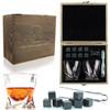 FLOW Twist Whisky Glasses & Stones Box Set