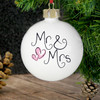 Mr & Mrs Pink Hearts Bauble