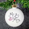 Personalised Newlyweds Christmas Bauble