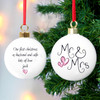 Personalised Christmas Bauble - Mr and Mrs Christmas Bauble